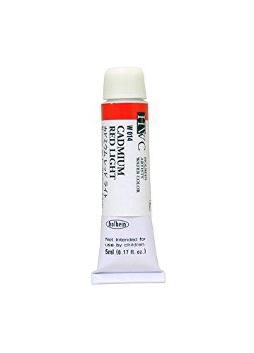 ホルベイン 透明水彩絵具 カドミウムレッドライト W014 5ml(2号)
