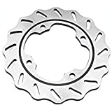 """Motorcycle Rear Front Brake Disc Rotor Fits Brake disks This Front brake disc made from high quality stainless steel and very durable.The shape designed to help keep brake pads clean and dissipate heat, provides outstanding braking performance and minimum pad wear.Product details:--Condition: 100% Brand New--Metails: Stainless Steel --Qty: 1pcs Rear Brake Disc Rotor--Position: Rear--Outer Diameter : 220 mm / 8.7""""--Inside Diameter: 125 mm / 4.9""""--Bolt Racing Diameter: 105 mm / 4.1""""--Bolt Hole Dia"""