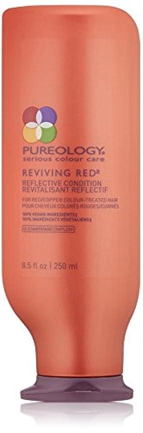 ライム事故むちゃくちゃPureology 赤と銅色処理した毛髪のための赤反射コンディショナーを復活 8.5オンス