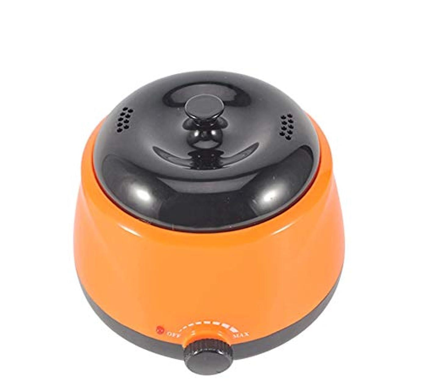 ハンサム拳男ワックスウォーマー電気ワックスヒーター、すべてのWAXSの高速メルトプロフェッショナルヒーター脱毛をワックスがけ脱毛 (Color : オレンジ)