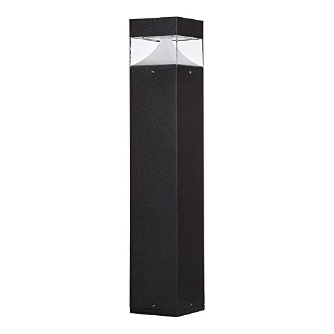 コマンド薬用違反するPinjeer 12ワットledブラック3000K高さ80センチ屋外風景ピラーライトモダンシンプル防水アルミpcポストライトコミュニティパーク芝生ガーデンストリート装飾コラムランプ