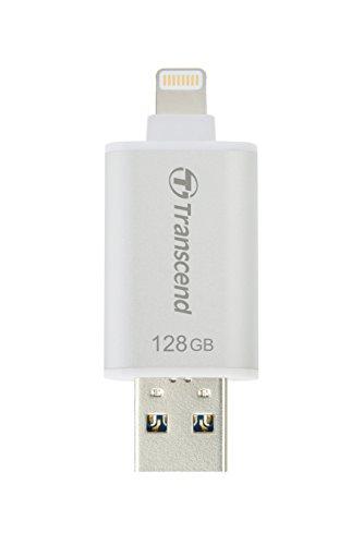 Transcend Lightning USBメモリ 128GB シルバー TS128GJDG300S 【Apple MFi認証】 (iPhone iPad iPod/Win M...