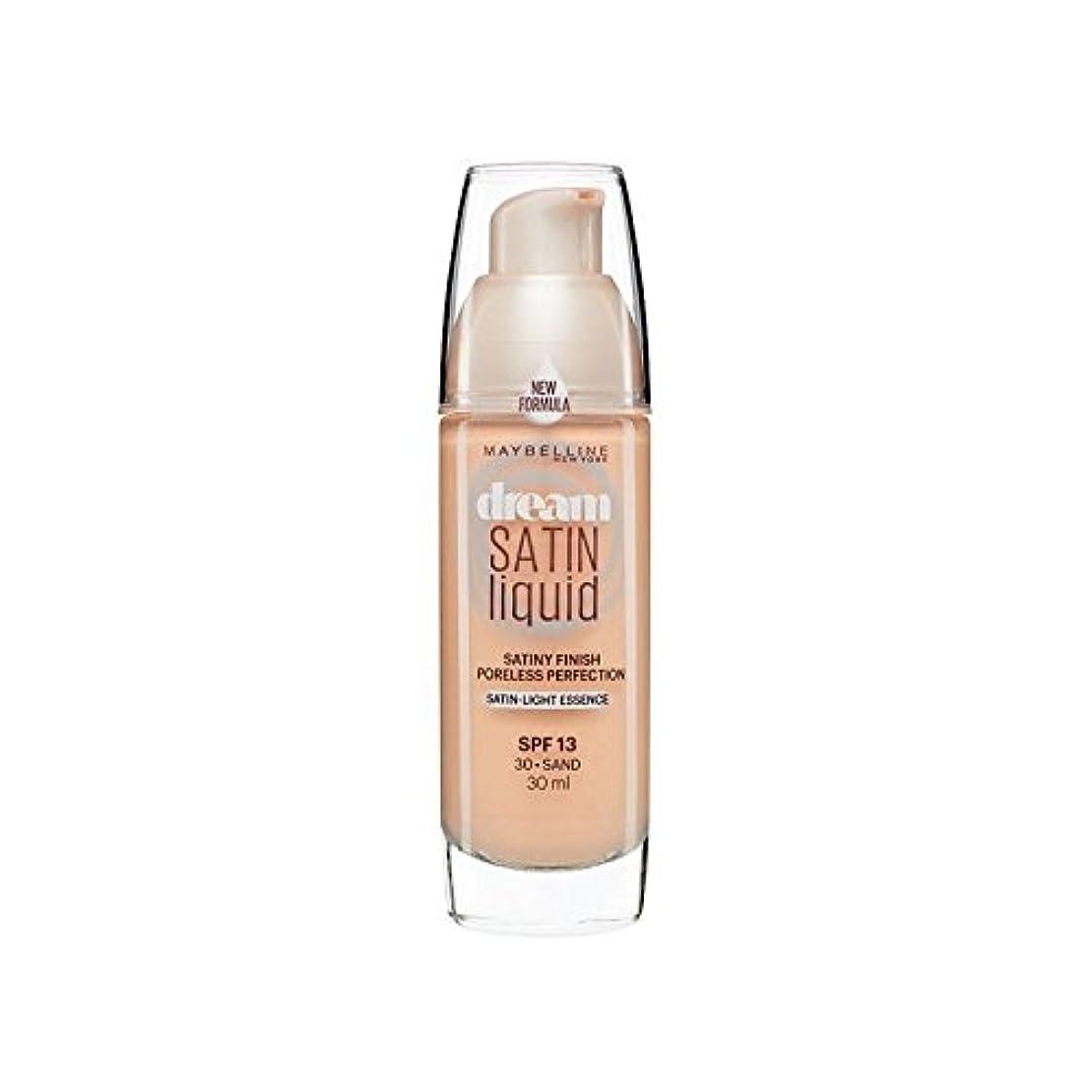 大混乱空気賞賛Maybelline Dream Satin Liquid Foundation 30 Sand 30ml - メイベリン夢サテンリキッドファンデーション30砂の30ミリリットル [並行輸入品]