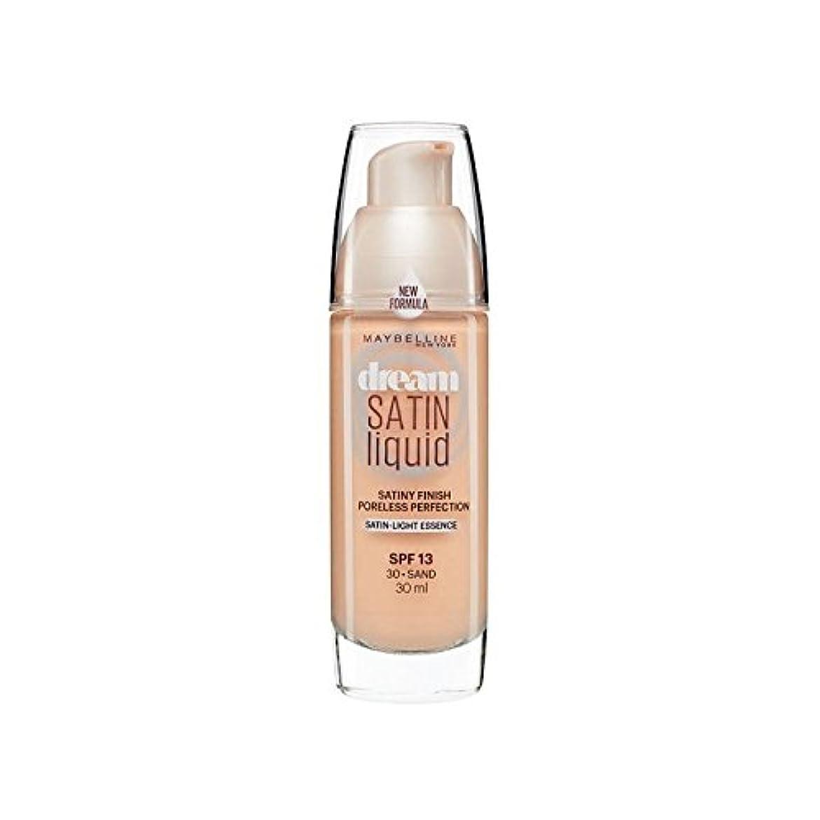 ペンスゲートウェイハンカチメイベリン夢サテンリキッドファンデーション30砂の30ミリリットル x2 - Maybelline Dream Satin Liquid Foundation 30 Sand 30ml (Pack of 2) [並行輸入品]
