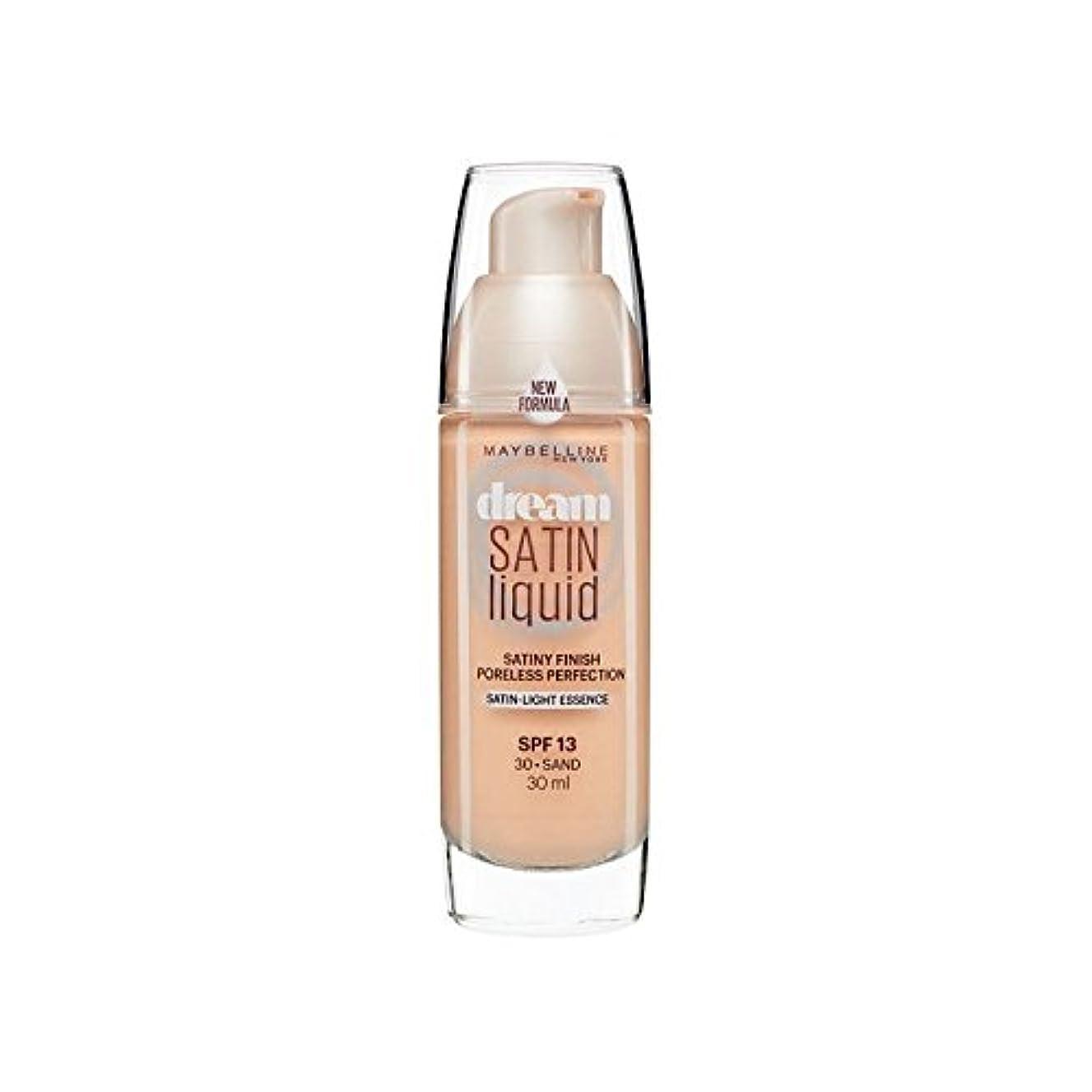 動員する医師置くためにパックメイベリン夢サテンリキッドファンデーション30砂の30ミリリットル x4 - Maybelline Dream Satin Liquid Foundation 30 Sand 30ml (Pack of 4) [並行輸入品]