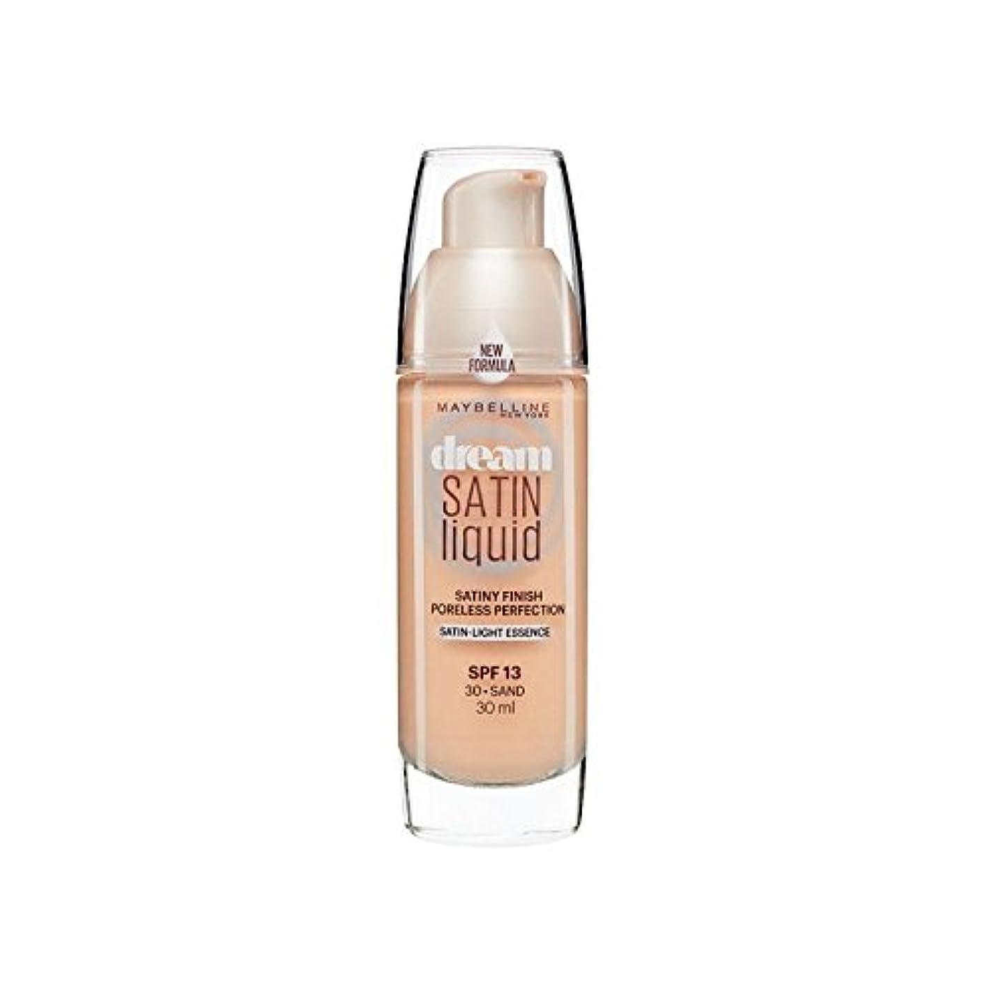 上院議員世紀集団メイベリン夢サテンリキッドファンデーション30砂の30ミリリットル x2 - Maybelline Dream Satin Liquid Foundation 30 Sand 30ml (Pack of 2) [並行輸入品]
