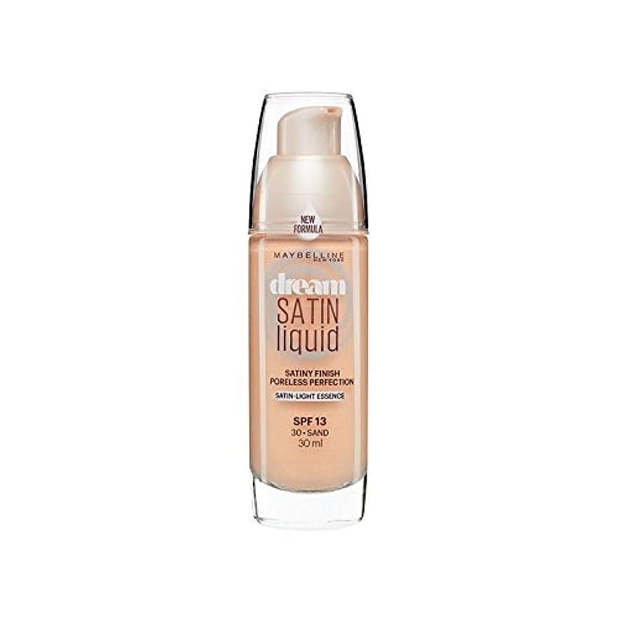 卒業原始的なスプレーメイベリン夢サテンリキッドファンデーション30砂の30ミリリットル x4 - Maybelline Dream Satin Liquid Foundation 30 Sand 30ml (Pack of 4) [並行輸入品]