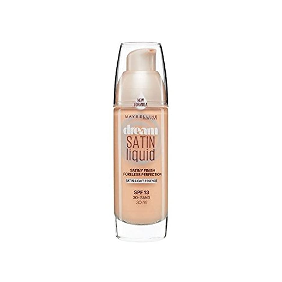 船外調和病Maybelline Dream Satin Liquid Foundation 30 Sand 30ml (Pack of 6) - メイベリン夢サテンリキッドファンデーション30砂の30ミリリットル x6 [並行輸入品]