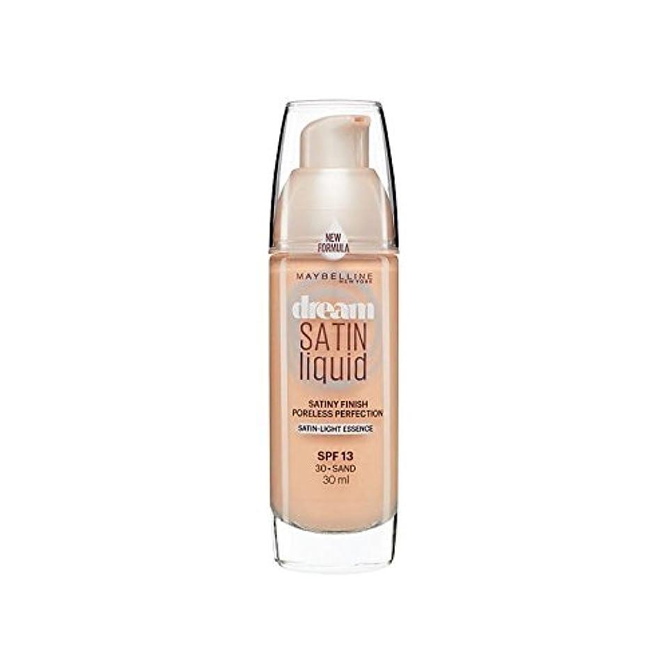 いつかドック掻くMaybelline Dream Satin Liquid Foundation 30 Sand 30ml (Pack of 6) - メイベリン夢サテンリキッドファンデーション30砂の30ミリリットル x6 [並行輸入品]
