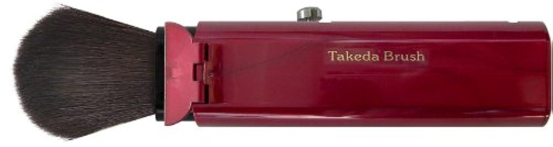 帰るこどもセンター代理人Takeda Brush 蓋付スライド式携帯用チーク&フェイスブラシ WR FG