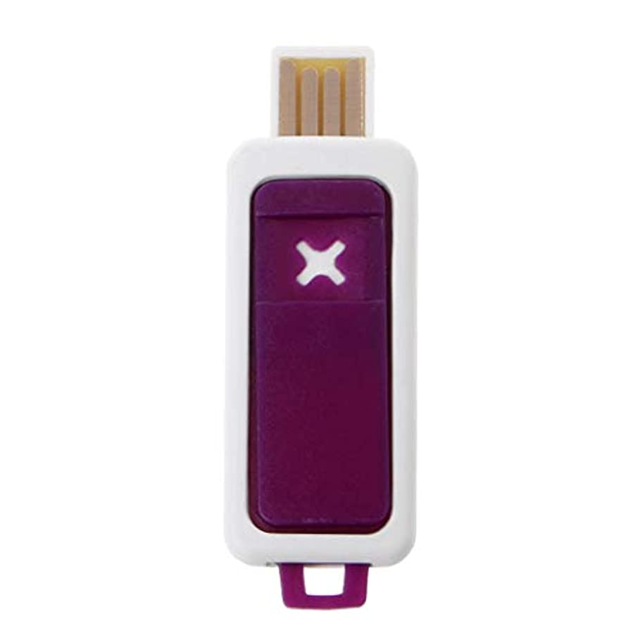 気取らない少年集中SimpleLife ポータブルミニエッセンシャルオイルディフューザーアロマUSBアロマテラピー加湿器デバイス(パープル2.3x6.7cm / 0.91x2.64in)