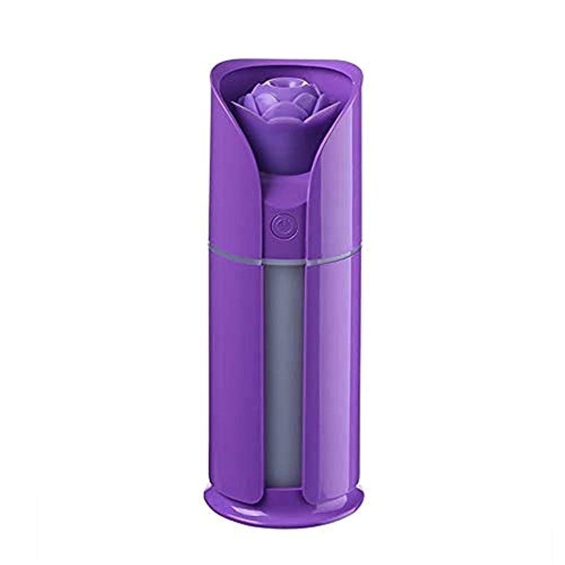はげ勇敢な経過Jtydj 調節可能な散水なしの自動シャットダウンを備えた新鮮なミスト130 MLの加湿器 (色 : 紫の)