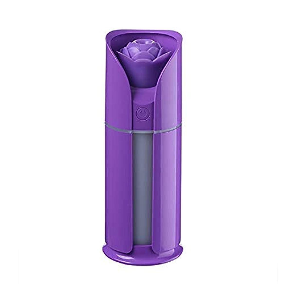 電話する無効セントJtydj 調節可能な散水なしの自動シャットダウンを備えた新鮮なミスト130 MLの加湿器 (色 : 紫の)