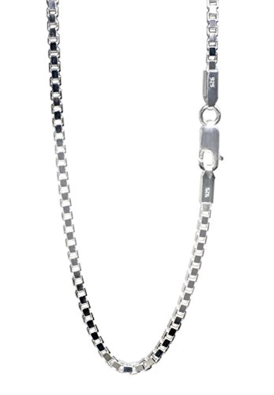 新宿銀の蔵 ベネチアンチェーン 太め 長さ40~70cm (45cm) 幅2.5mm シルバー 925 ネックレス チェーン ネックレスチェーン メンズ 人気 sv