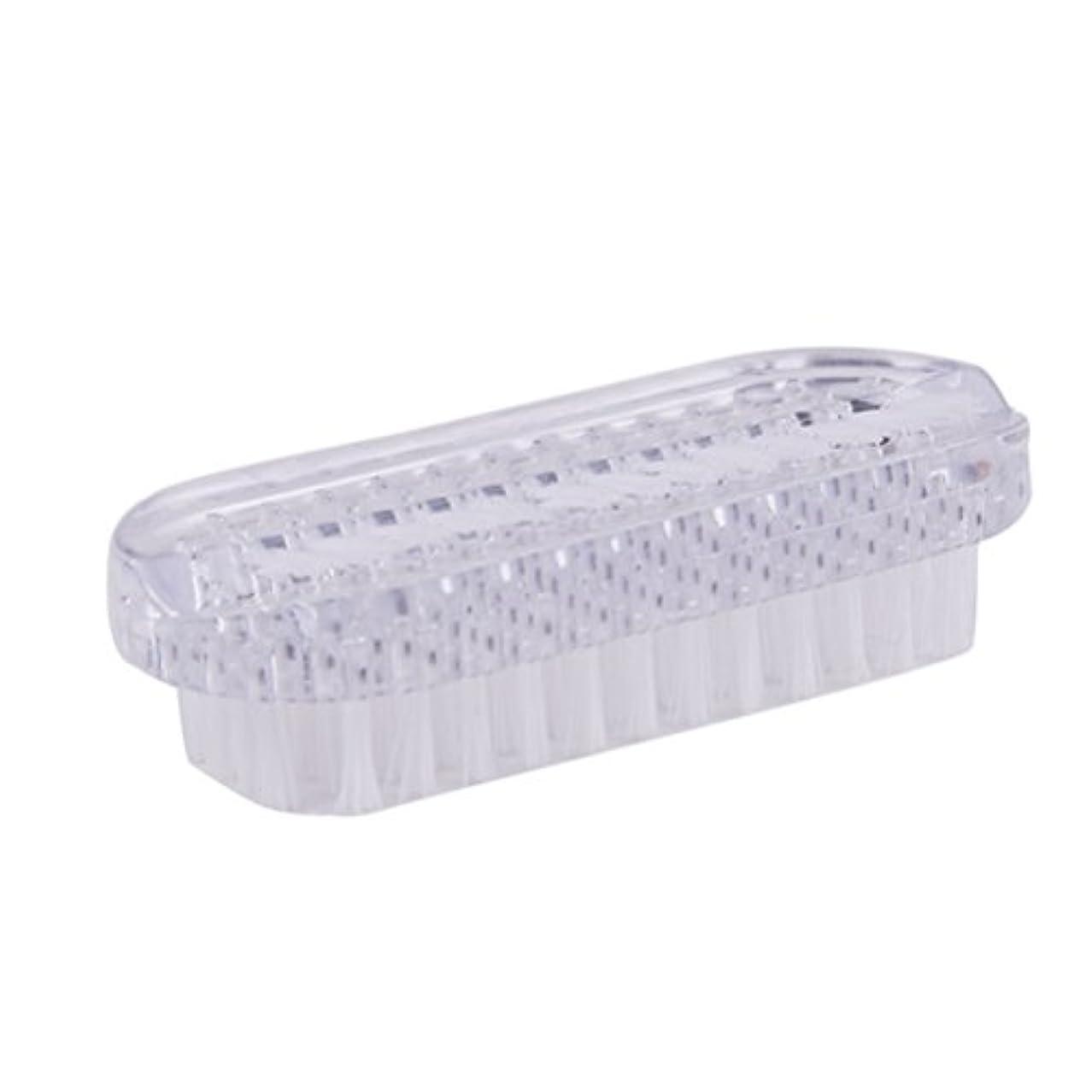 被る性的タップROSENICE ネイルブラシプラスティックネイルスクラブブラシダブルサイドハンドネイルクリーナーブラシ(ホワイト)