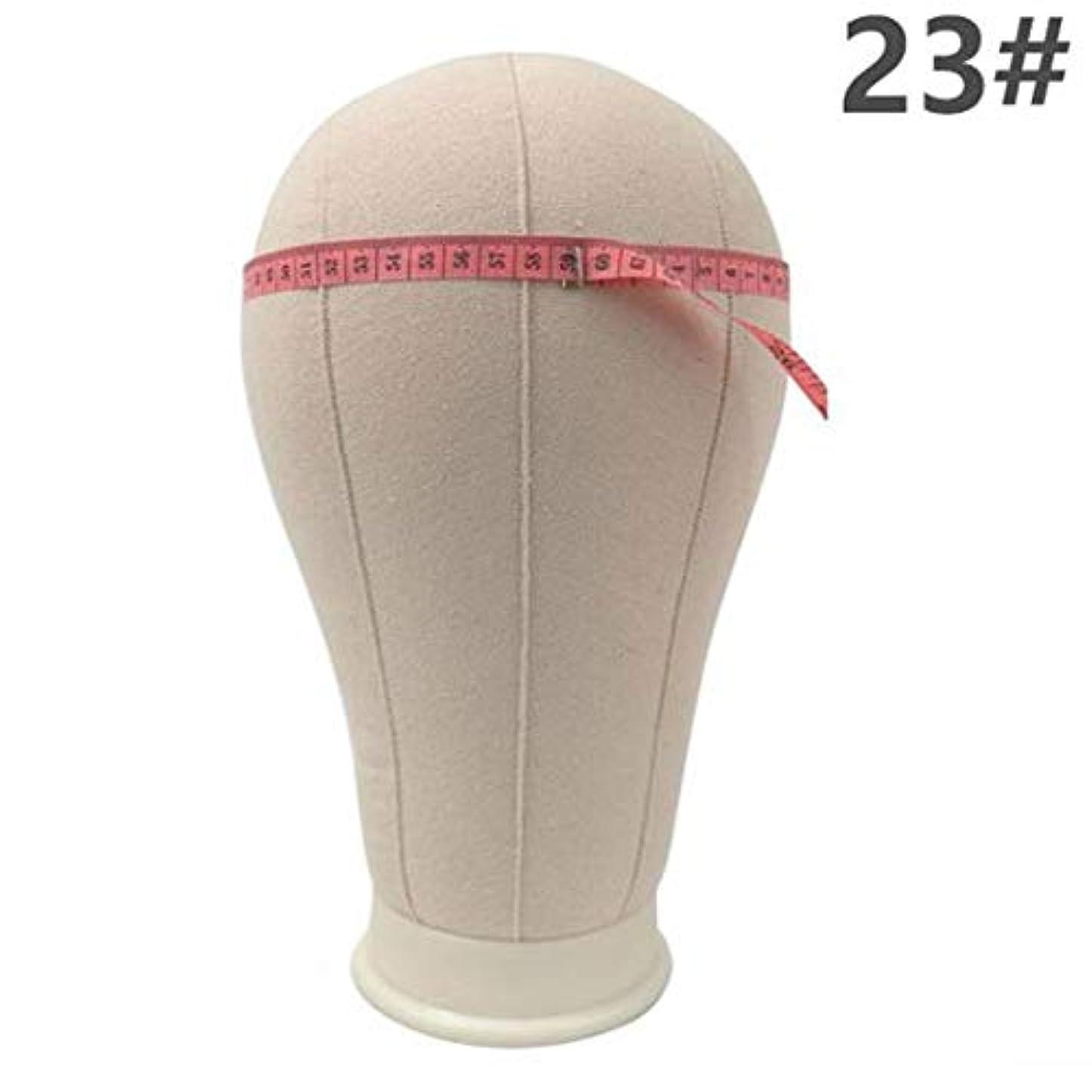 スクリーチ収縮効果ヘッドモールドウィッグブラケット仕上げウィッグ形状ピン止め可能な布布モデルヘッドキャンバスヘッドモデルヘッドウィッグ配置,C