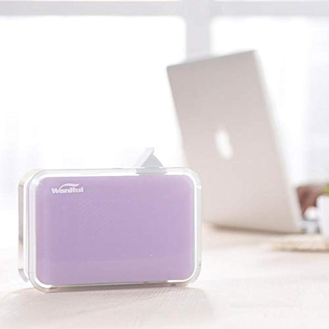 チューインガム不当擬人ミニ ポータブル 涼しい霧 加湿器,自動シャット ダウン-オフ 手動 加湿機 超音波式 精油 ディフューザー 空気を浄化 蒸気気化器 旅行のため-紫の
