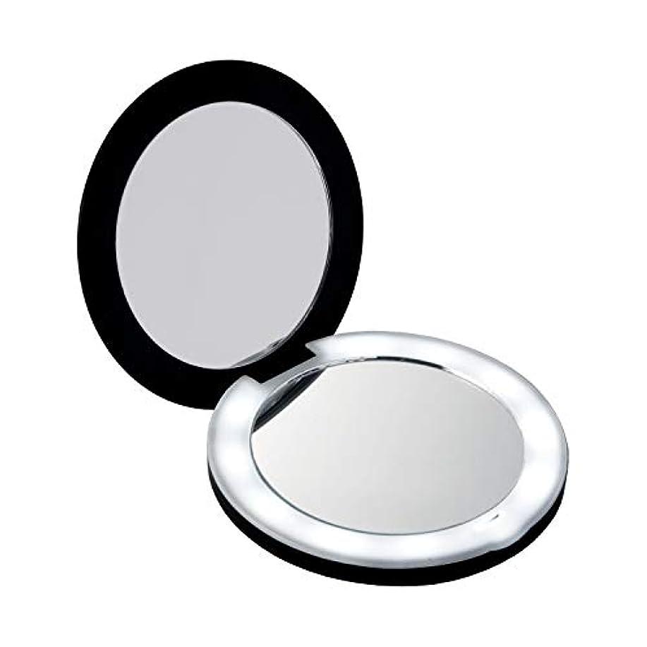 概してむしゃむしゃオンス10倍拡大鏡コンパクト2面ミラー(ライト付) LEDライト メイク直し 化粧 折りたたみ 持ち運びに便利 女優ミラー 電池式 約9cm