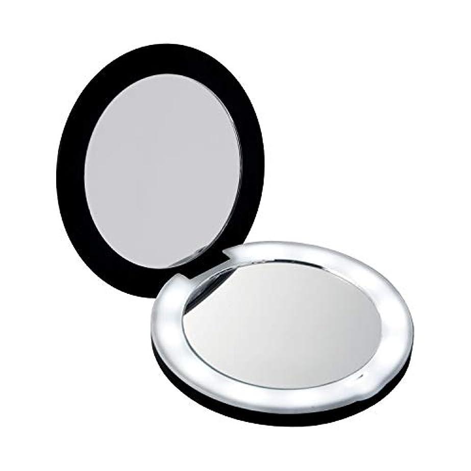 キャプテン確率拍手するコモライフ 10倍拡大鏡コンパクト2面ミラー(ライト付) 約直径9×厚み1.5cm