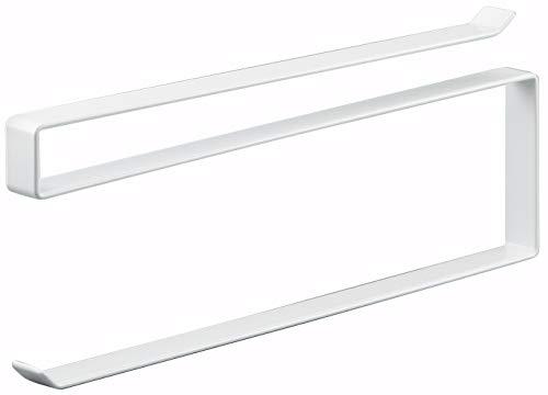 山崎実業 戸棚下キッチンペーパーホルダー ホワイト 約W1.5×D26×H9...