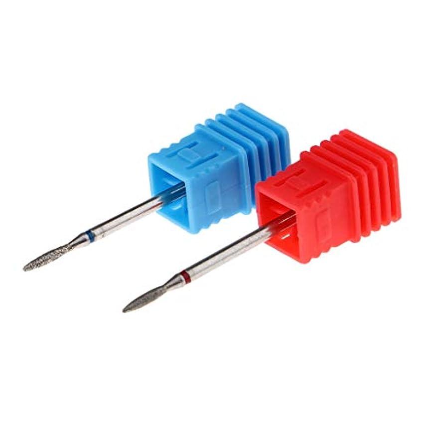 掃除サイクルフレットToygogo ネイルドリルビット 電気ファイルバ フツール ビット ネイルマシーン用 超硬 2本入 全9色 - 02