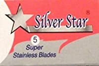 Silver Star Super Stainless Steel 両刃替刃 5枚入り(5枚入り1 個セット)【並行輸入品】