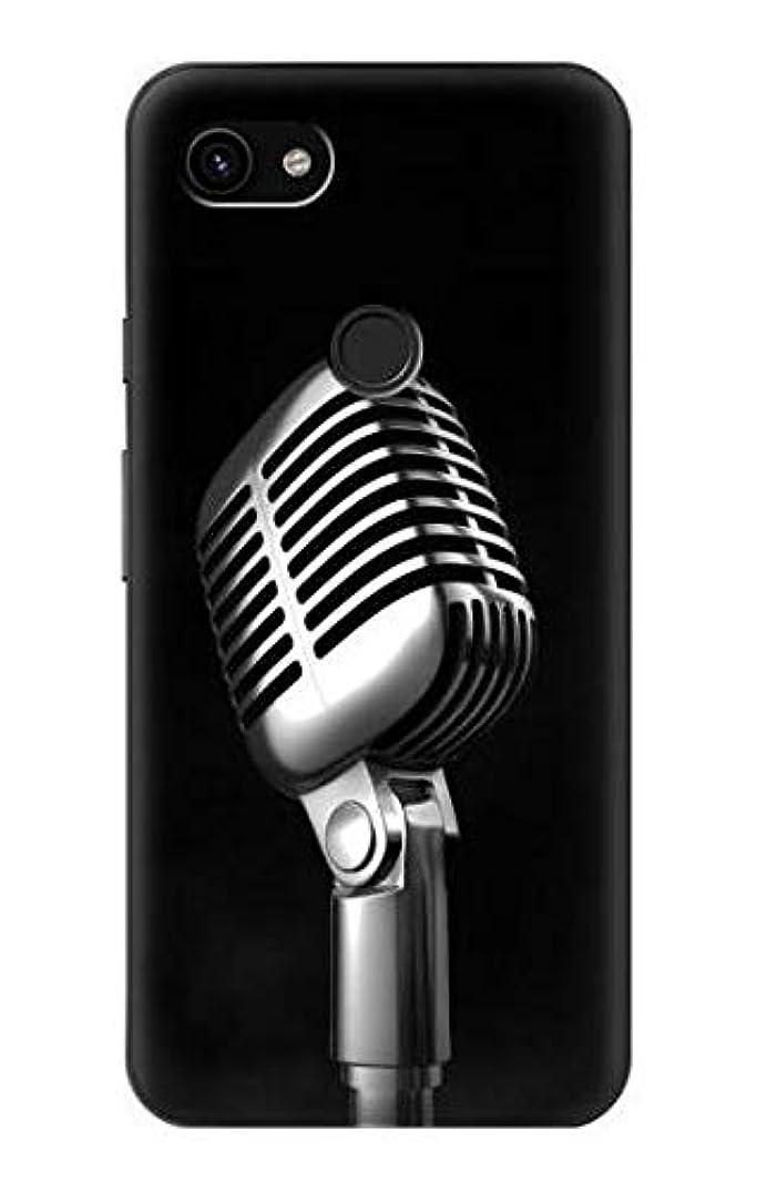 寛容なマグスコットランド人JP1672P3X レトロ マイク ジャズ音楽 Retro Microphone Jazz Music Google Pixel 3a XL ケース