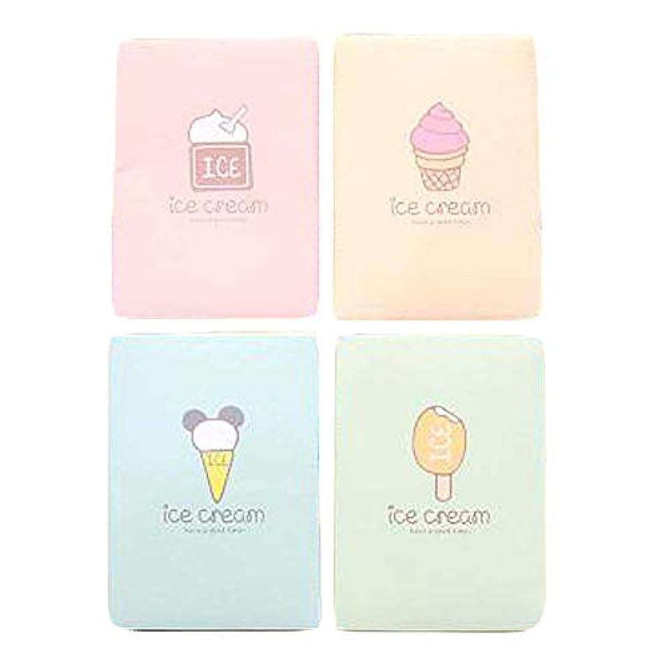 スナップコンドーム差アイスクリームの携帯用顔オイルブロッティングペーパーランダムカラー、500個