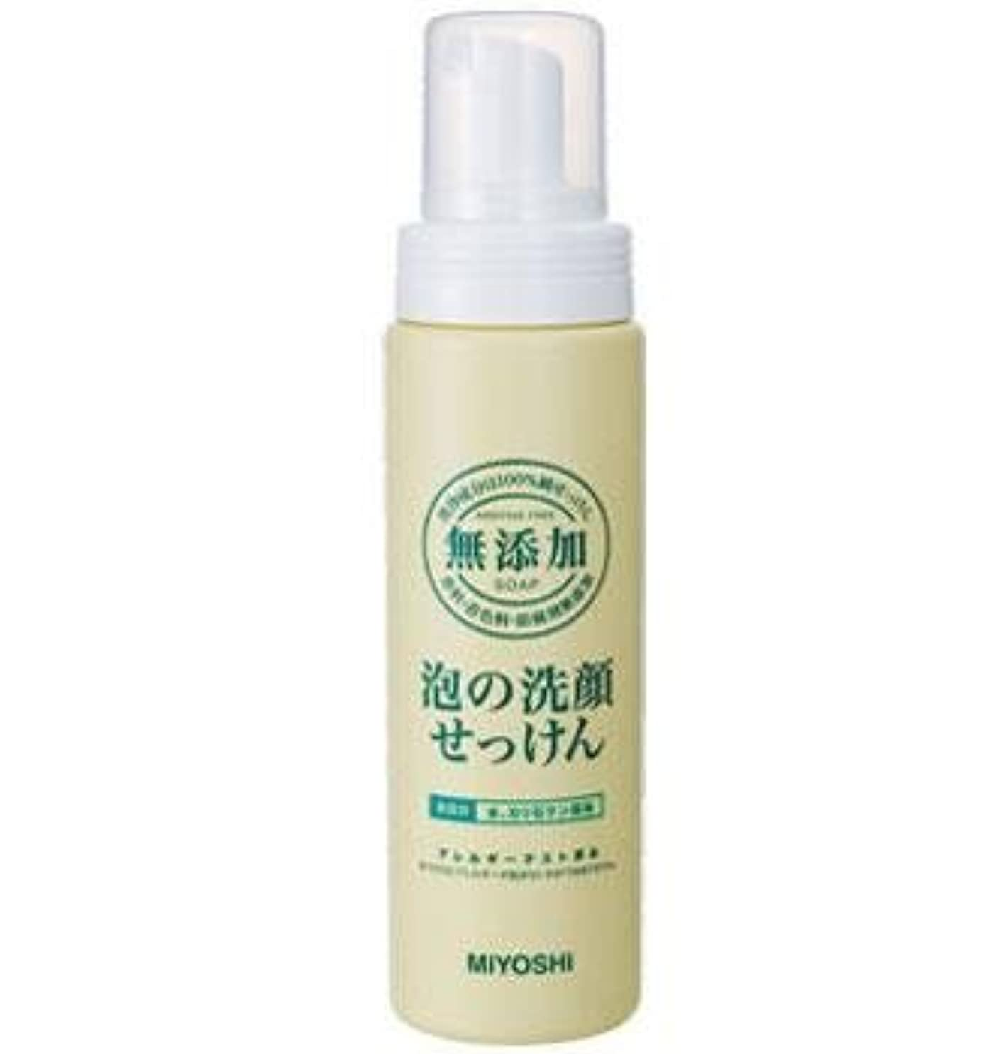 破滅熱狂的なレイプミヨシ石鹸 無添加 泡の洗顔せっけん ポンプ 200ml(無添加石鹸)×24点セット (4537130120019)