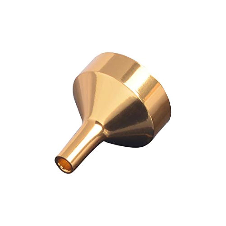 咳誤解偉業CICIAOミニ液体漏斗オイルホッパー充填ツール用香水ディフューザーボトルワインポットコンテナー香水漏斗金属ゴールド