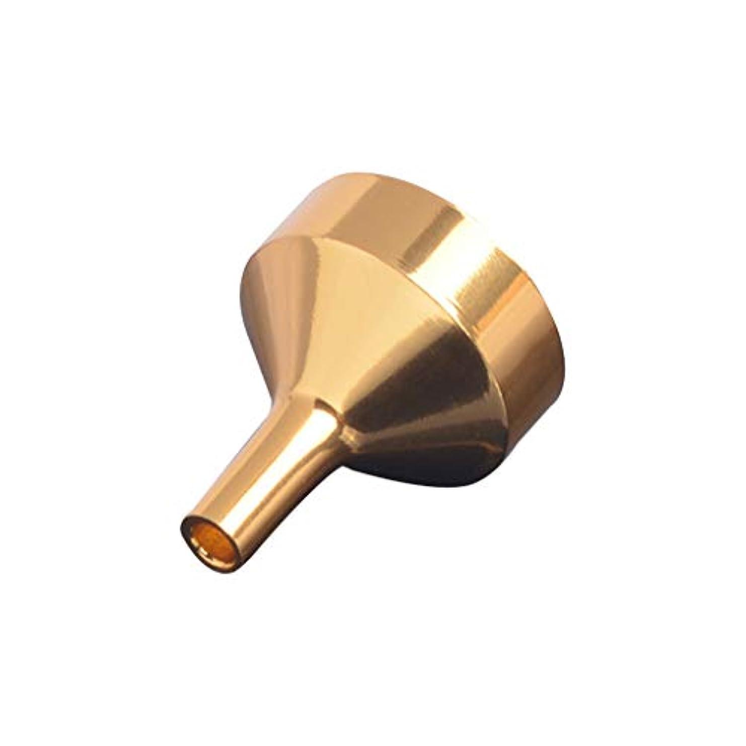 旧正月逃れる薄めるCICIAOミニ液体漏斗オイルホッパー充填ツール用香水ディフューザーボトルワインポットコンテナー香水漏斗金属ゴールド