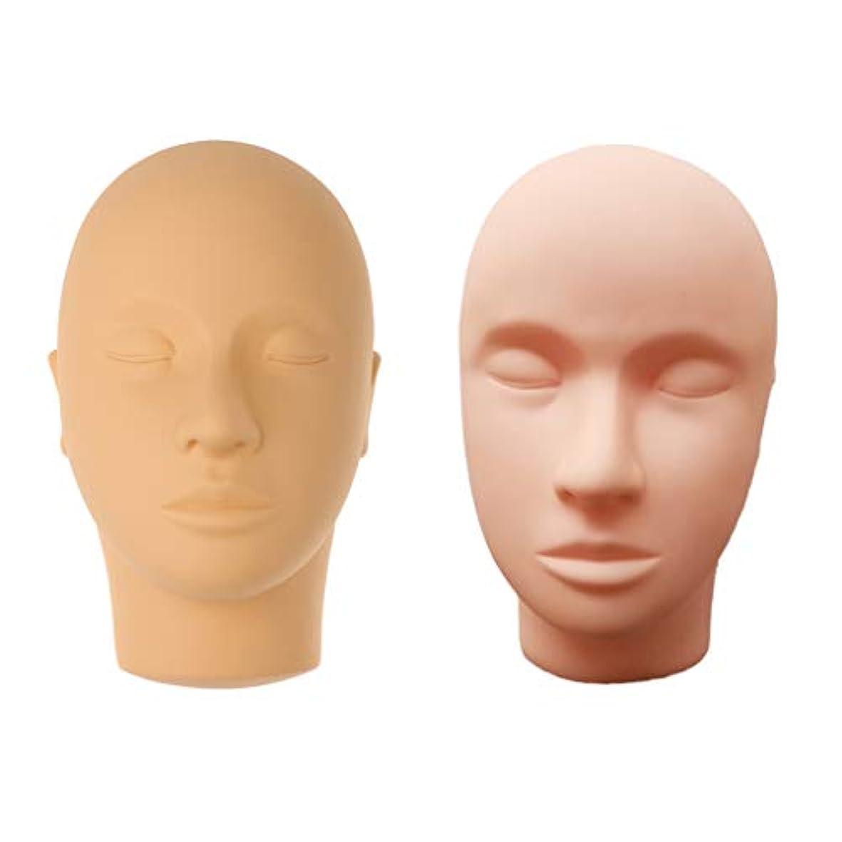 中傷診療所損失マネキンヘッド モデル 肌色 メイクアップ まつげエクステ 化粧 メイクアップ トレーニング サロン用