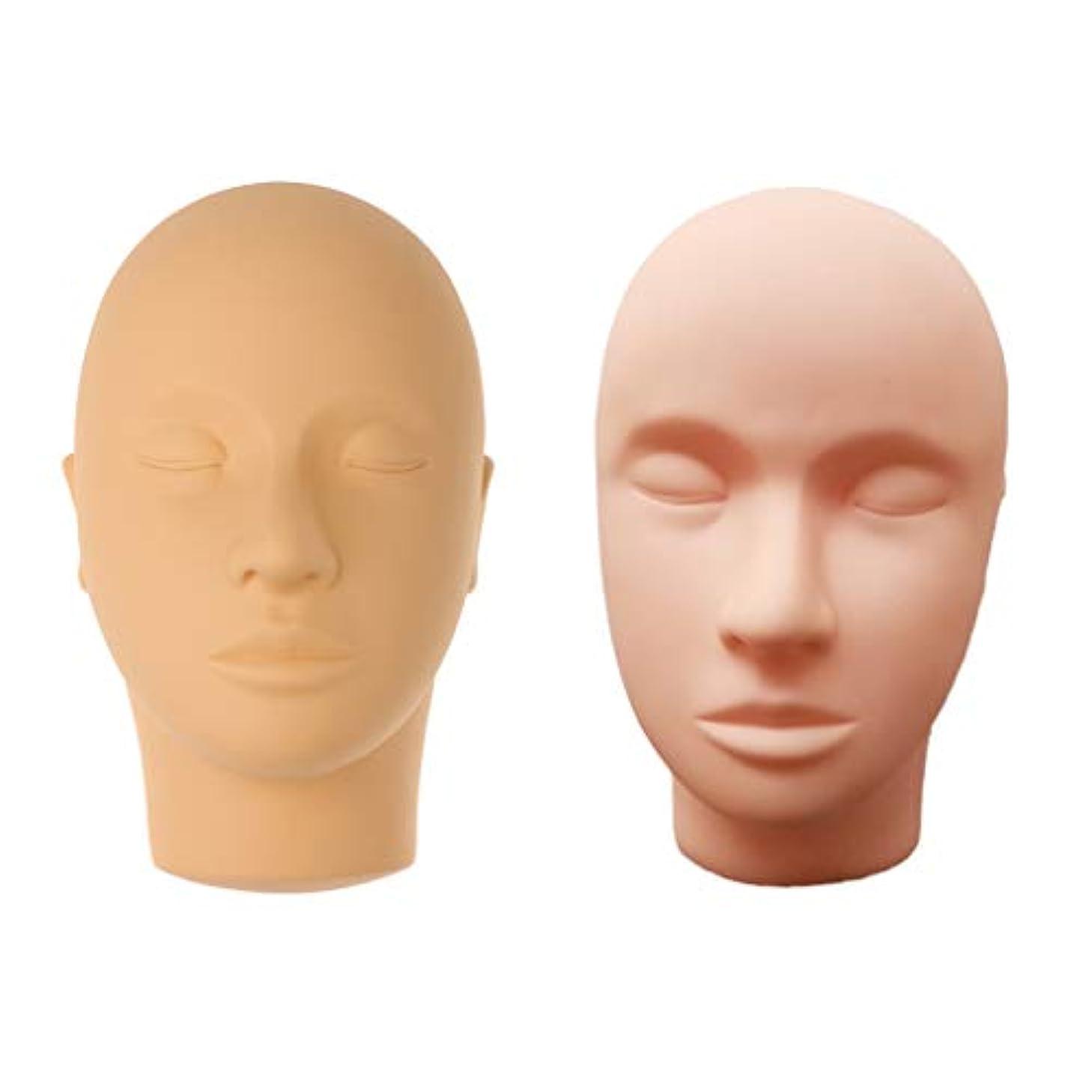 識別する放棄された頬マネキンヘッド モデル 肌色 メイクアップ まつげエクステ 化粧 メイクアップ トレーニング サロン用