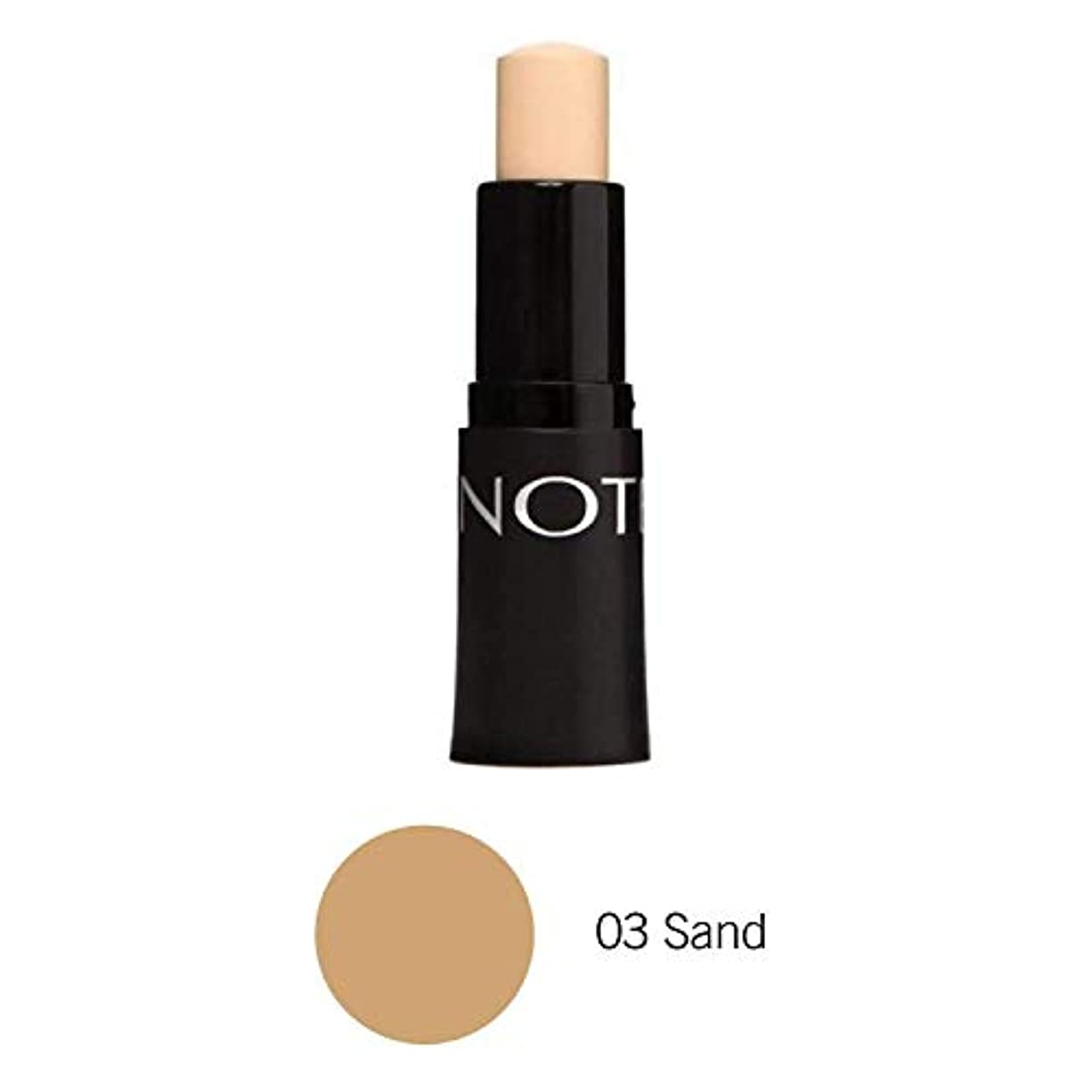 賢い機械疑わしいNOTE Cosmetics フルカバレッジスティックコンシーラー、1.1オンス 03砂 第03