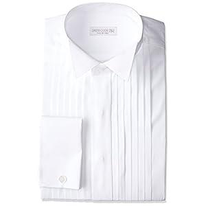 (ドレスコード101) ウィングカラー 長袖ワイシャツ 4012 ダブルカフス/ピンタック