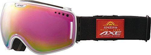 AXE(アックス) メンズ スキー・スノーボードゴーグル ワイドビューモデル AX960-ECM ホワイト(WT)