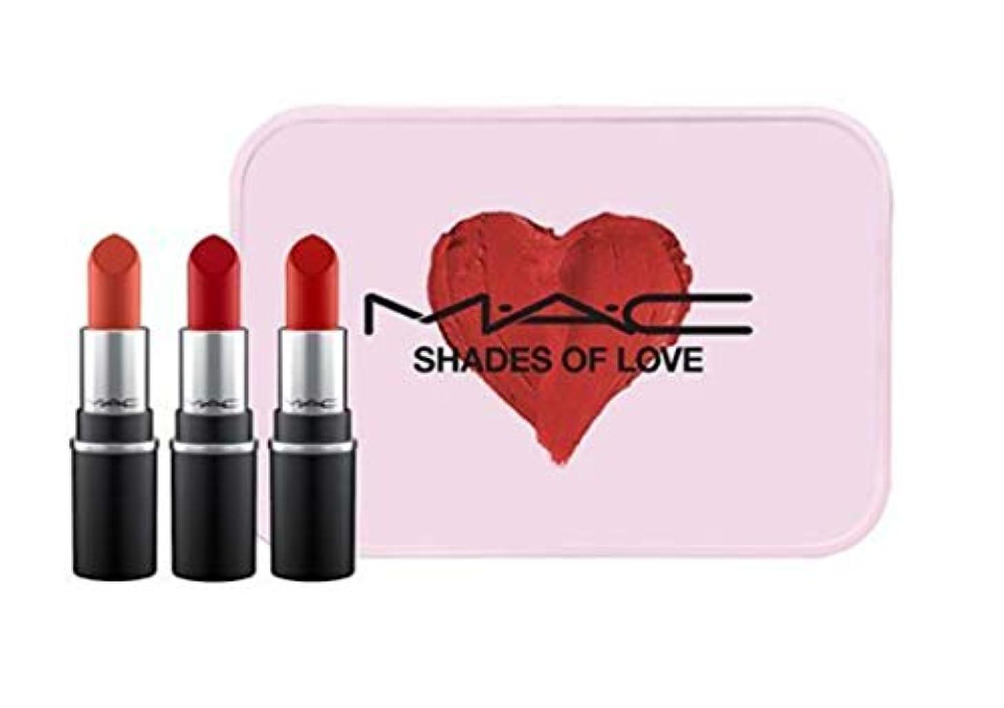 悪い指紋なすMAC SHADES OF LOVE MINI MAC KIT-Ruby Woo,RUSSIAN RED,CHILLI 【並行輸入品】