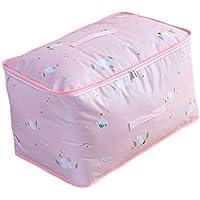衣類キルト大型収納袋ピンクパターン防水防湿ポータブル折り畳み式オックスフォード布高品質の旅行主催者羽毛布団キルト衣類移動仕上げ荷物預かり袋 (サイズ さいず : 60 * 40 * 30cm)