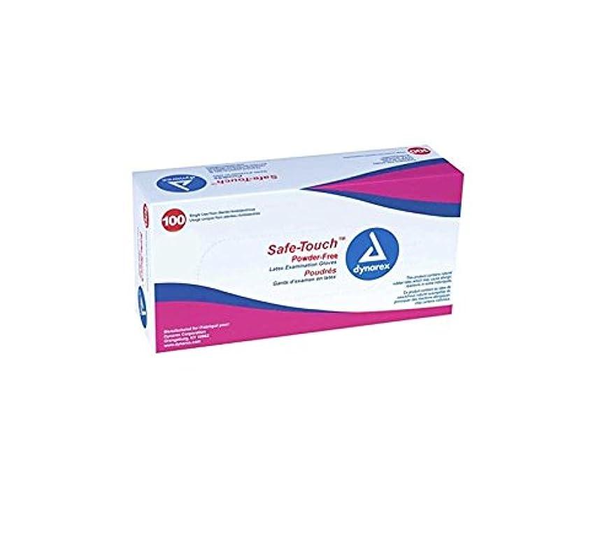 添加剤帳面ケープDynarex Safe-Touch Powder-Free Latex Exam Gloves, Large, Box/100 by Safe-Touch