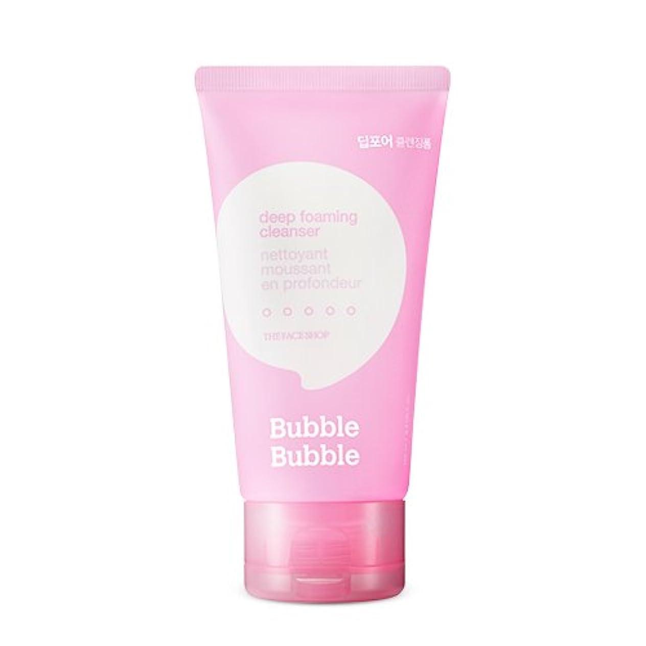 呪われた社会科勢いTHE FACE SHOP Bubble Bubble Foaming Cleanser 100ml/ザフェイスショップ バブル バブル フォーミング クレンザー 100ml (#Deep(ディープポア)) [並行輸入品]