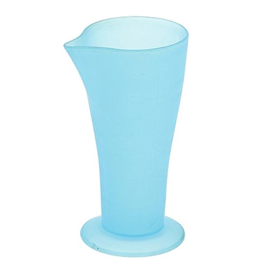 ジョージスティーブンソン余分なレバー計量カップ ヘアダイカップ プラスチック サロン 髪の色合い 色の混合用 読みやすい測定 再使用可能