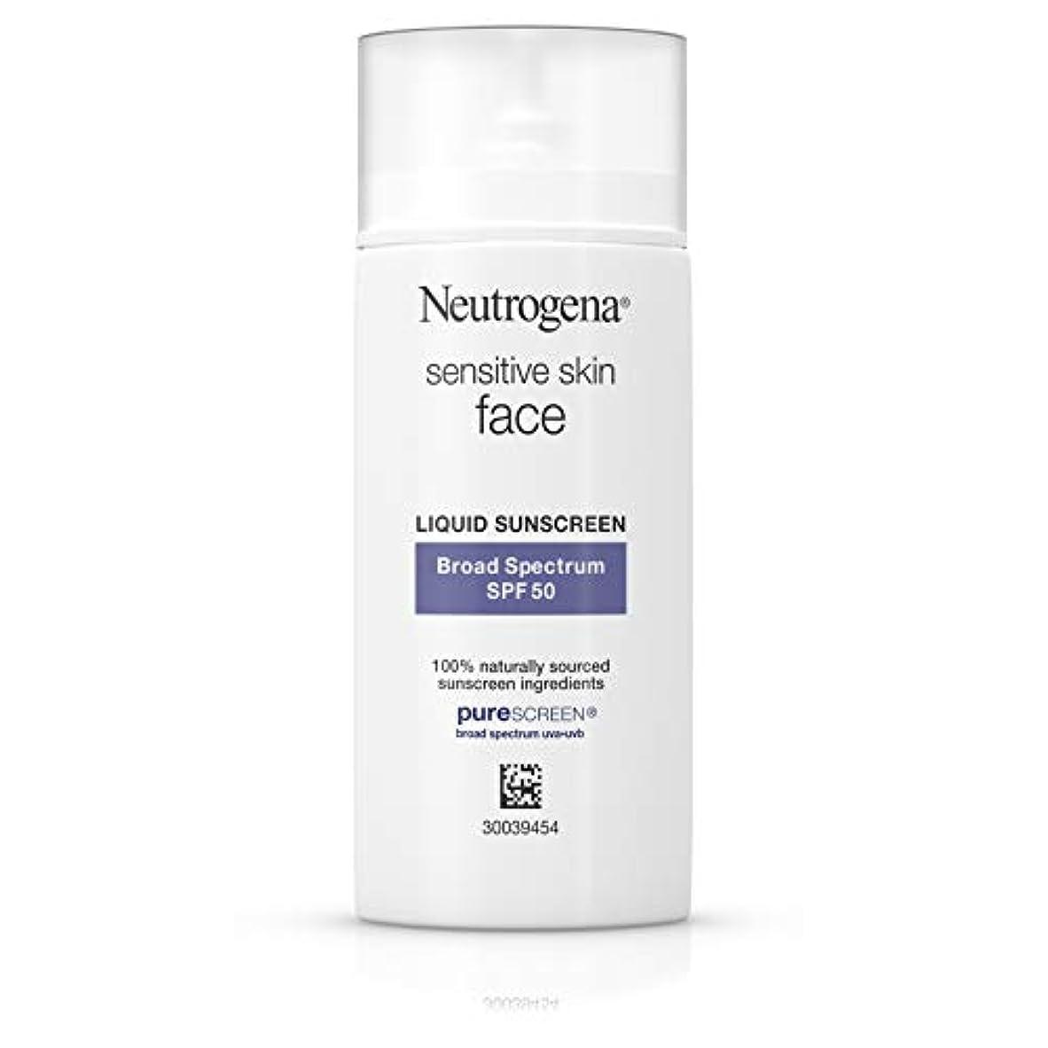Neutrogena 酸化亜鉛、広域スペクトルSPF 50、1.4フロリダ州での自然の食材から敏感肌のための顔日焼け止め。オズ