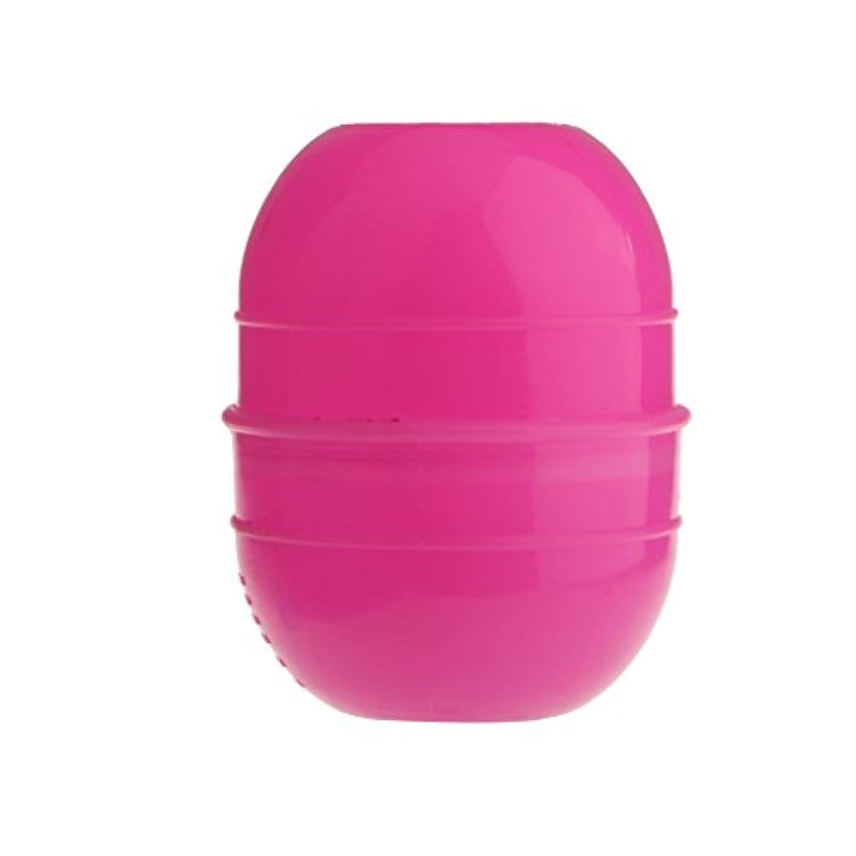 悩み排除楕円形ヘアカラー ボウル ヘアダイ カップ 色合いボウル 染料撹拌 プラスチック 全2色 - ローズレッド