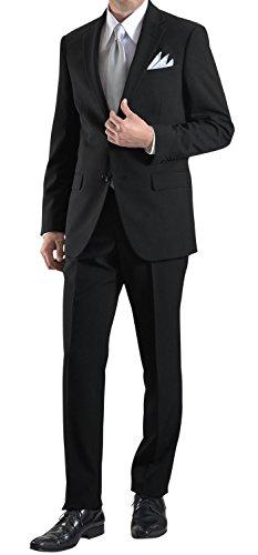 [MARUTOMI]フォーマルスーツ 礼服 喪服 紳士服 シングル 2つボタン オールシーズン メンズ ブラックスーツ L-AZ46F80139-990-YA7