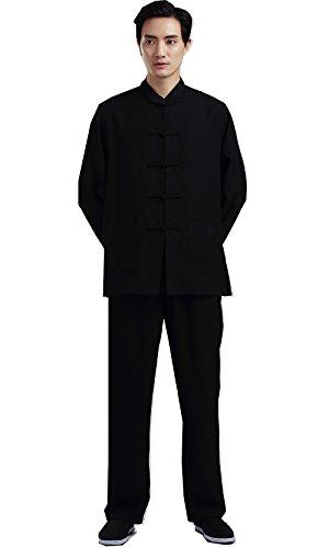 [해외](상하이 이야기) Shanghai Story 태극권 차이나 옷 소매 스포츠 상하 세트 넉넉한 쿵푸 연습 의류 연습 입고 무술 표 演服 쿵푸 의류 소림의 주먹 무술 남녀 겸용/(Shanghai Story) Shanghai Story Tai Chi China clothes long sleeve sports top an...