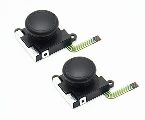 Switch NS Joy-con対応 Joy-Con for Switch コントロール 右/左 センサーアナログジョイスティック 交換用 2個 キャップ付き