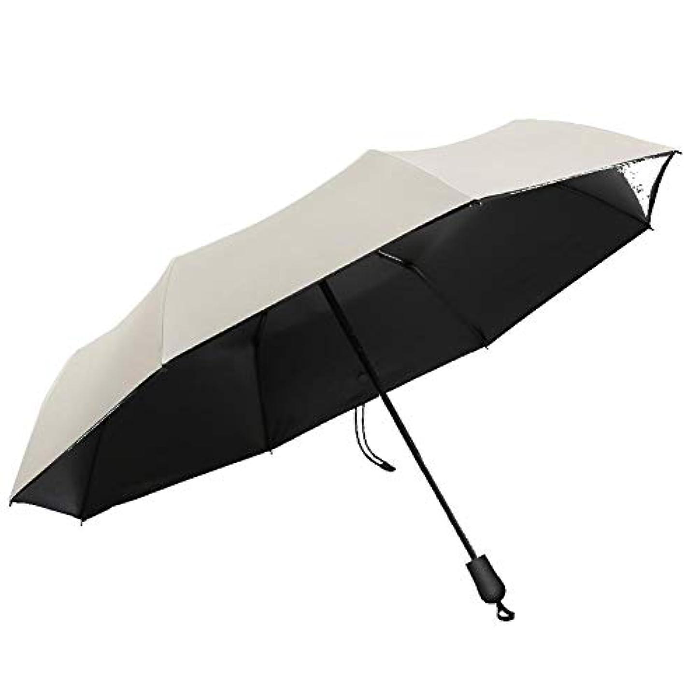 状況メンタリティ維持Chuangshengnet 傘女性折りたたみ式超軽量抗UV防水日当たりと雨のデュアル - 使用 (Color : Meters white)