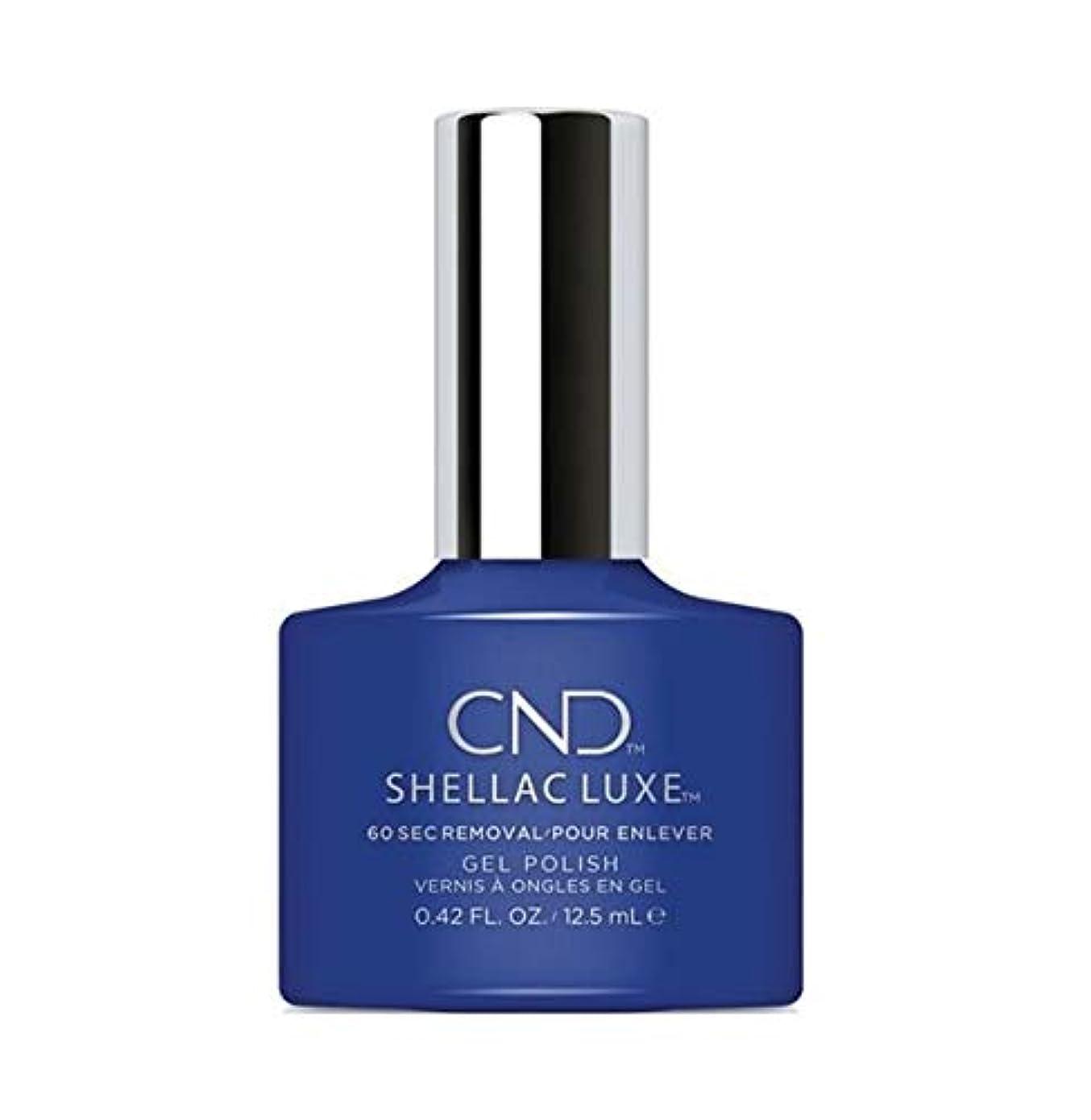重なる緊張する夜明けCND Shellac Luxe - Blue Eyeshadow - 12.5 ml / 0.42 oz