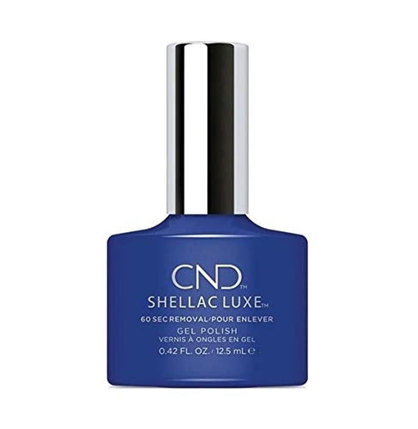 試用座標登るCND Shellac Luxe - Blue Eyeshadow - 12.5 ml / 0.42 oz