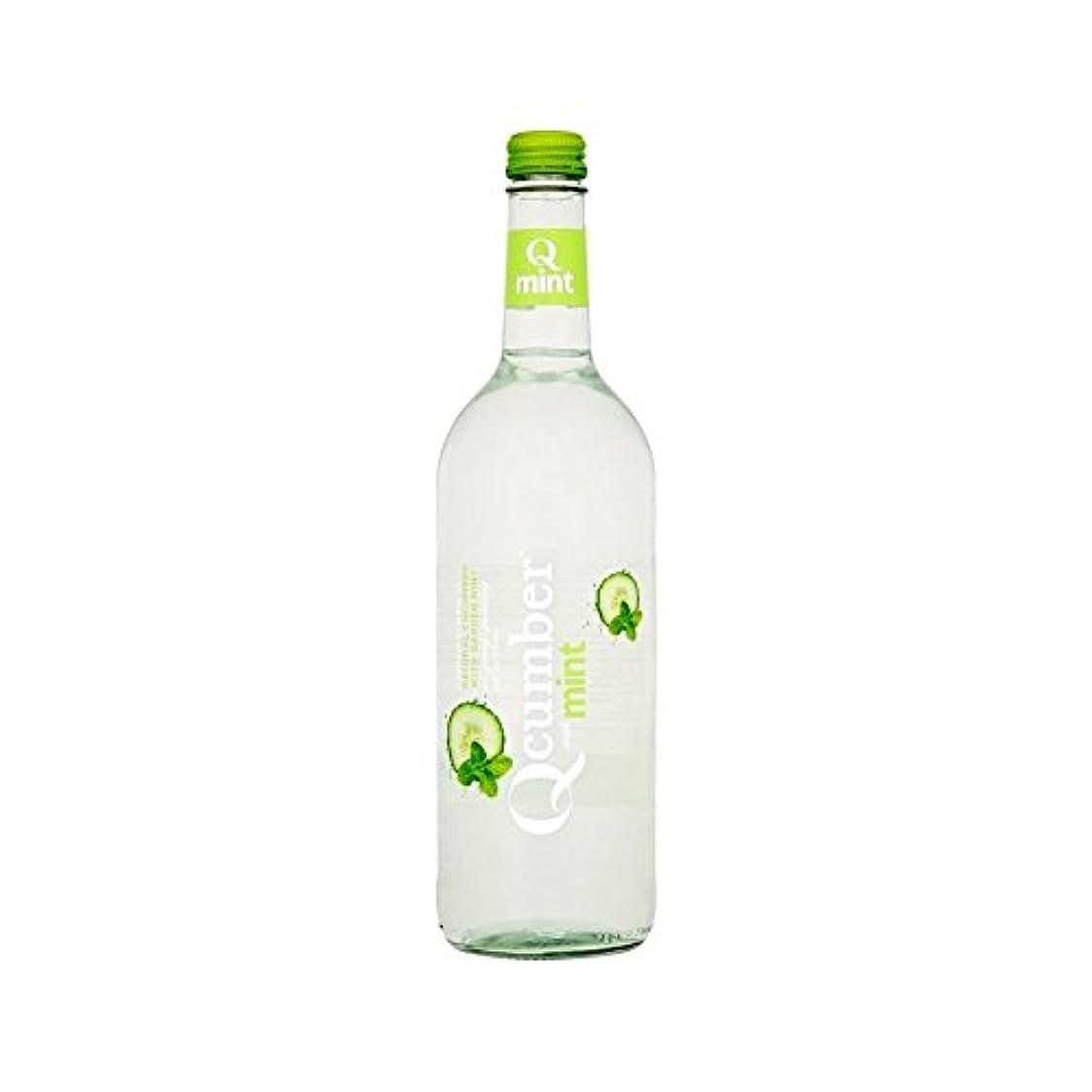 表現詳細な債権者ミントスパークリング水750ミリリットルで (Qcumber) (x 4) - Qcumber with Mint Sparkling Water 750ml (Pack of 4)
